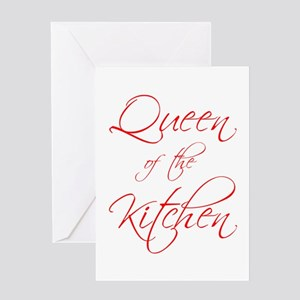 queen-of-kitchen-scr-red Greeting Card