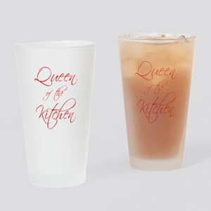 queen-of-kitchen-scr-red Drinking Glass