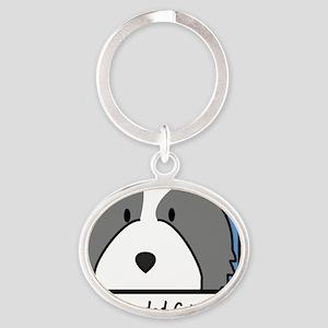 anime_bearded Oval Keychain