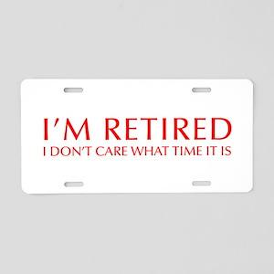 Im-retired-OPT-RED Aluminum License Plate