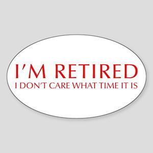 Im-retired-OPT-RED Sticker