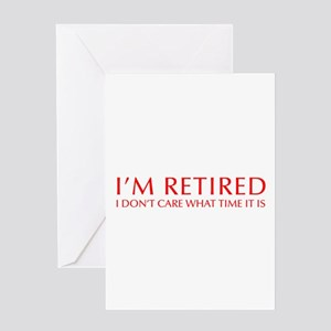 Im-retired-OPT-RED Greeting Card