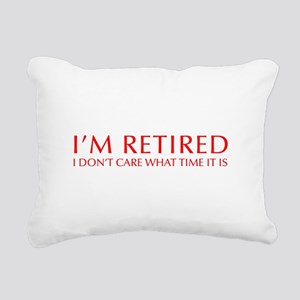 Im-retired-OPT-RED Rectangular Canvas Pillow