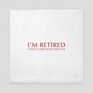 Im-retired-OPT-RED Queen Duvet
