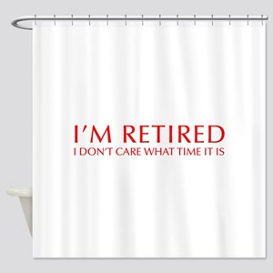 Im-retired-OPT-RED Shower Curtain