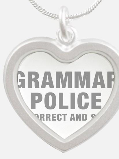 grammar-police-hel-gray Necklaces