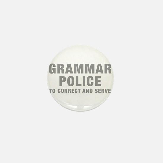 grammar-police-hel-gray Mini Button