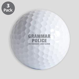 grammar-police-hel-gray Golf Ball