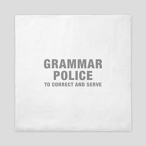grammar-police-hel-gray Queen Duvet