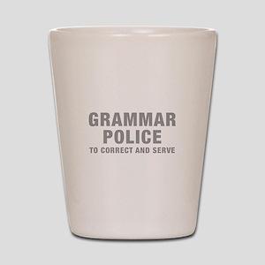 grammar-police-hel-gray Shot Glass