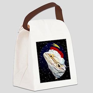 christmasnight_beardeddragon Canvas Lunch Bag