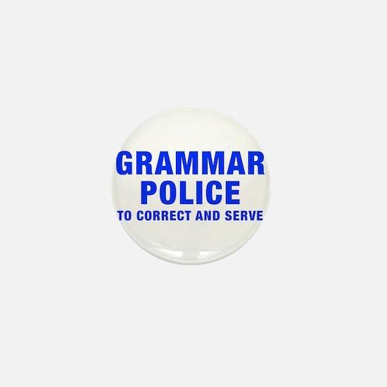grammar-police-hel-blue Mini Button