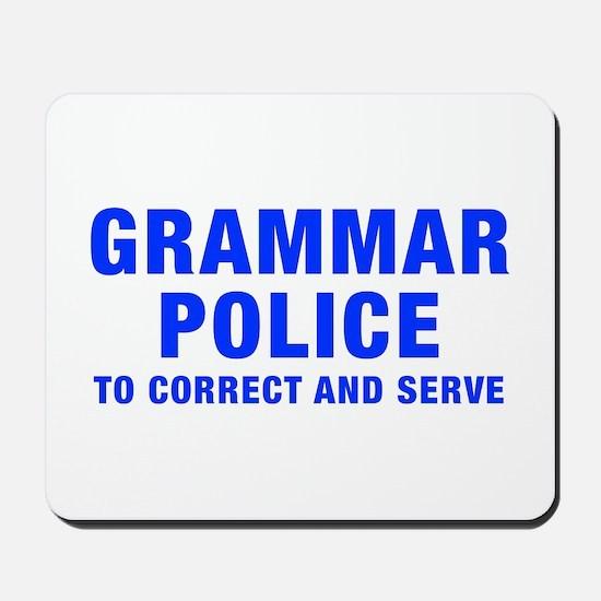 grammar-police-hel-blue Mousepad