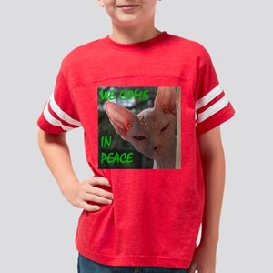 We Come In Peace Youth Football Shirt