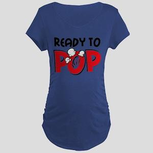 Ready To Pop Dark Maternity T-Shirt