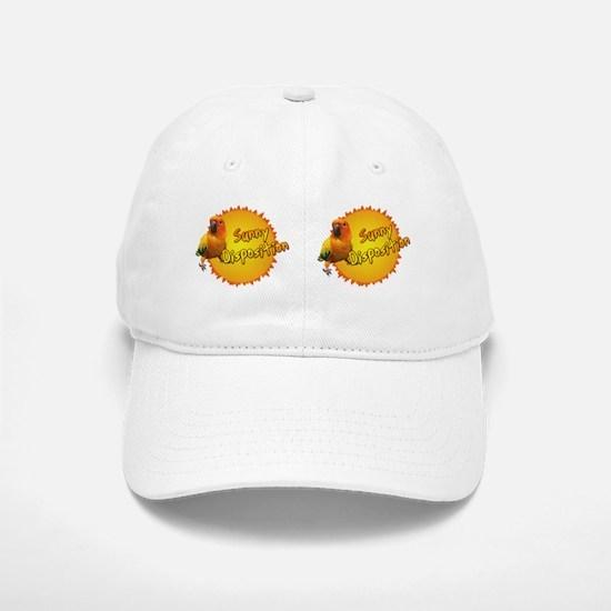 sunconure_sunnydisposition_bev Baseball Baseball Cap