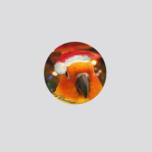 3-christmas_sunconure_ornament Mini Button