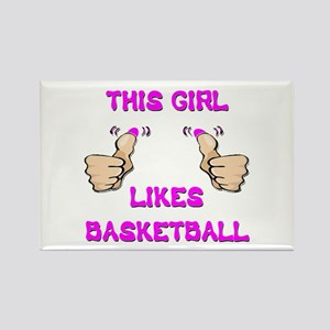This Girl Likes Basketball Rectangle Magnet