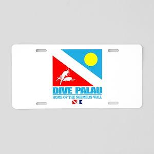 Dive Palau Aluminum License Plate