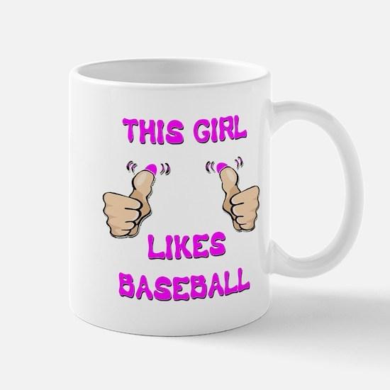 This Girl Likes Baseball Mug