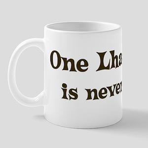 One Lhasa Apso Mug
