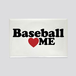 Baseball Loves Me Rectangle Magnet