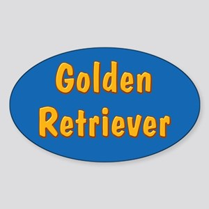 Golden Retriever Sticker (Oval)
