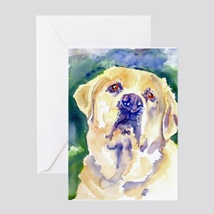 Yellow Lab-watercolor Greeting Card