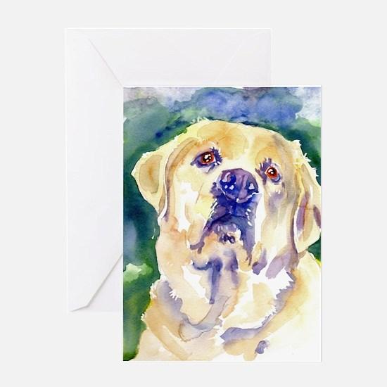 Yellow Lab-watercolor Greeting Card