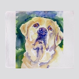 Yellow Lab-watercolor Throw Blanket