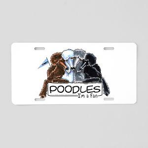 Poodle Fan Aluminum License Plate