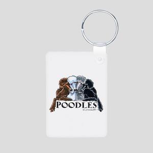 Poodles Aluminum Photo Keychain
