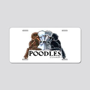 Poodles Aluminum License Plate