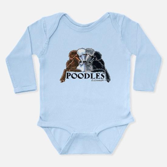 Poodles Long Sleeve Infant Bodysuit