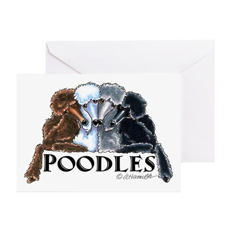 Poodles Greeting Cards (Pk of 10)