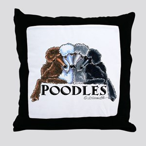 Poodles Throw Pillow