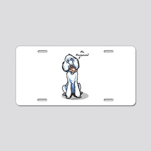Std Poodle Manipulate Aluminum License Plate