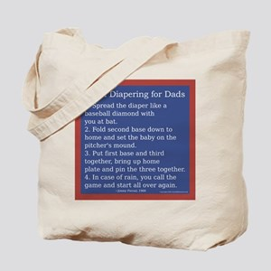 Cloth Diaper Instructions for Dads Tote Bag