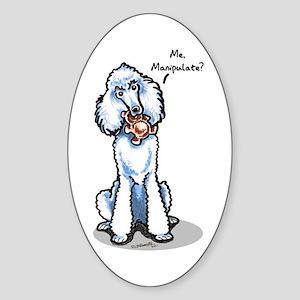Std Poodle Manipulate Sticker (Oval)