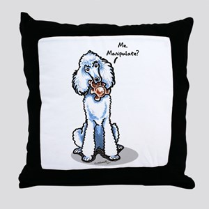 Std Poodle Manipulate Throw Pillow