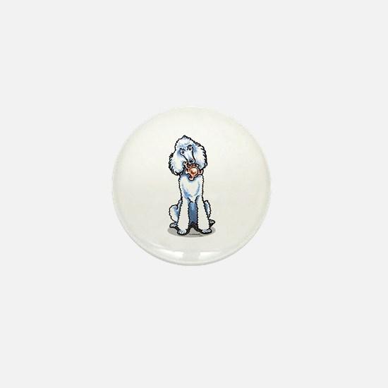 Teddy Bear Poodle Mini Button