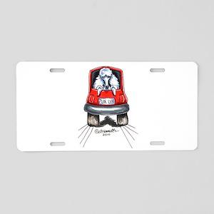 Poodle Car Aluminum License Plate