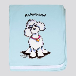 Toy Poodle Manipulate baby blanket