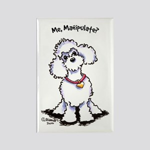Toy Poodle Manipulate Rectangle Magnet