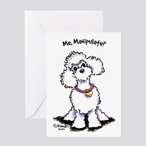Toy Poodle Manipulate Greeting Card