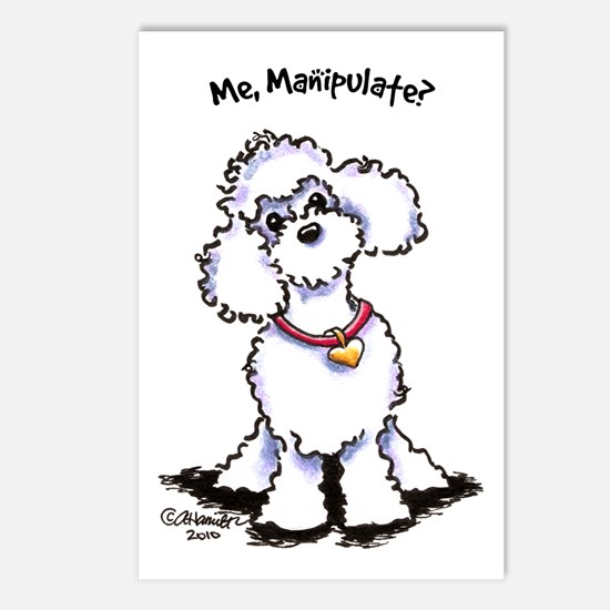 Toy Poodle Manipulate Postcards (Package of 8)