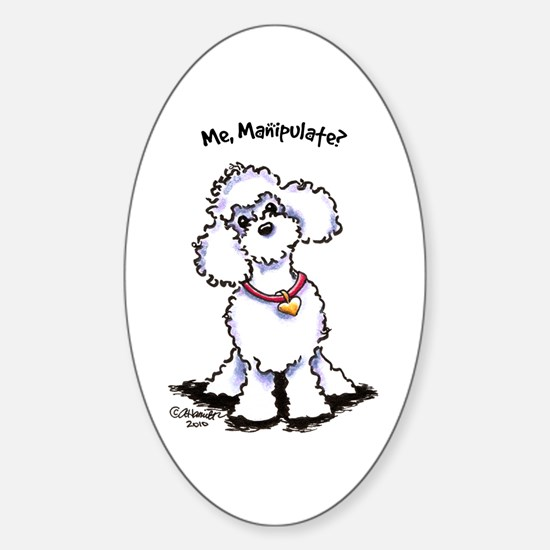 Toy Poodle Manipulate Sticker (Oval)