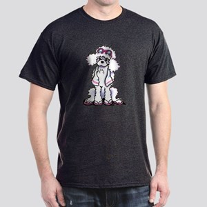 Poodle Beach Bum Dark T-Shirt
