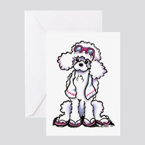 Poodle Beach Bum Greeting Card