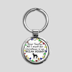 ds_ibizan_wire Round Keychain